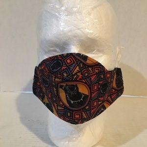 Black panther cotton face mask.